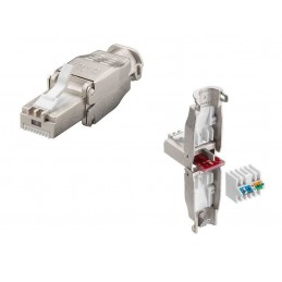 CAT 7 RJ45 Network Cable Connector – Tool Free Shielded