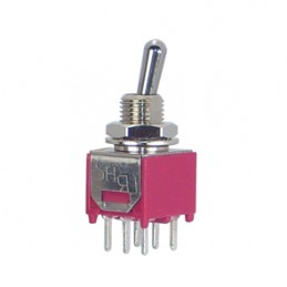 Mini Toggle Switch DPDT ON-ON PCB TYPE