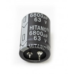Radial electrolytic capacitor 6800uf 63V
