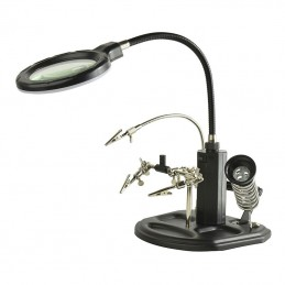 Helping hands With Magnifying glass + Solder stand + solder