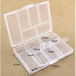 Small Storage box 6 Slot 8.1x11.8x2.3cm