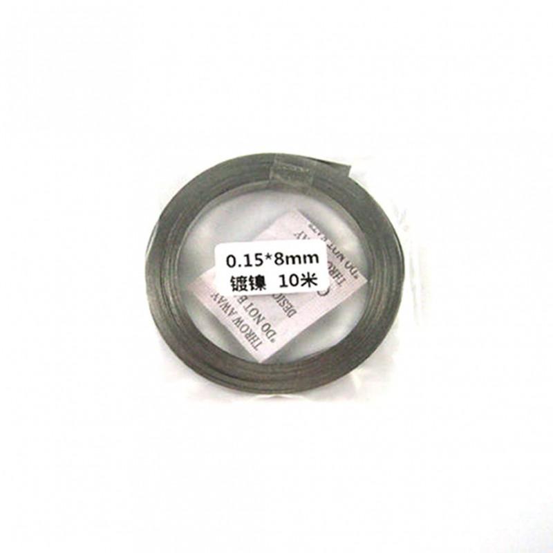 Nickel Plated Strip 10m 0.15x8mm