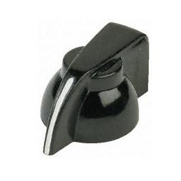 Black grub screw control pointer knob