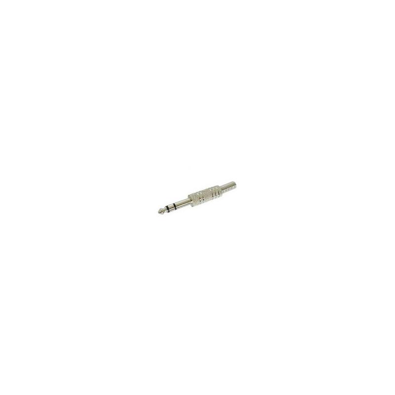 Jack Plug 6.3mm Stereo Metal