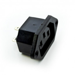 Female power socket, chassis type