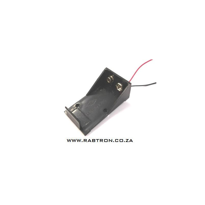Battery holder 1x9V cell with leads