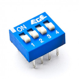 Dip Switch SPST 4 Positions