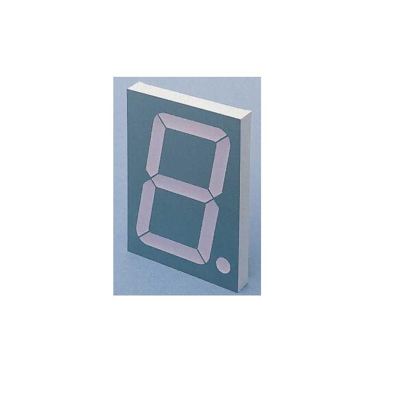 101.2mm 1 Digit Numeric LED Display 7-SEG CA RED