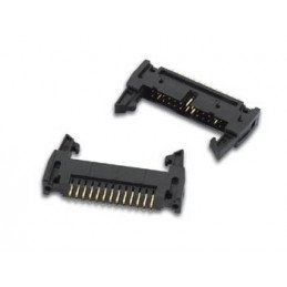 20-PIN PCB header connector with latches