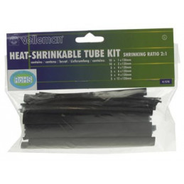 Heat Shrinkable Tube Kit - 40pcs- BLACK