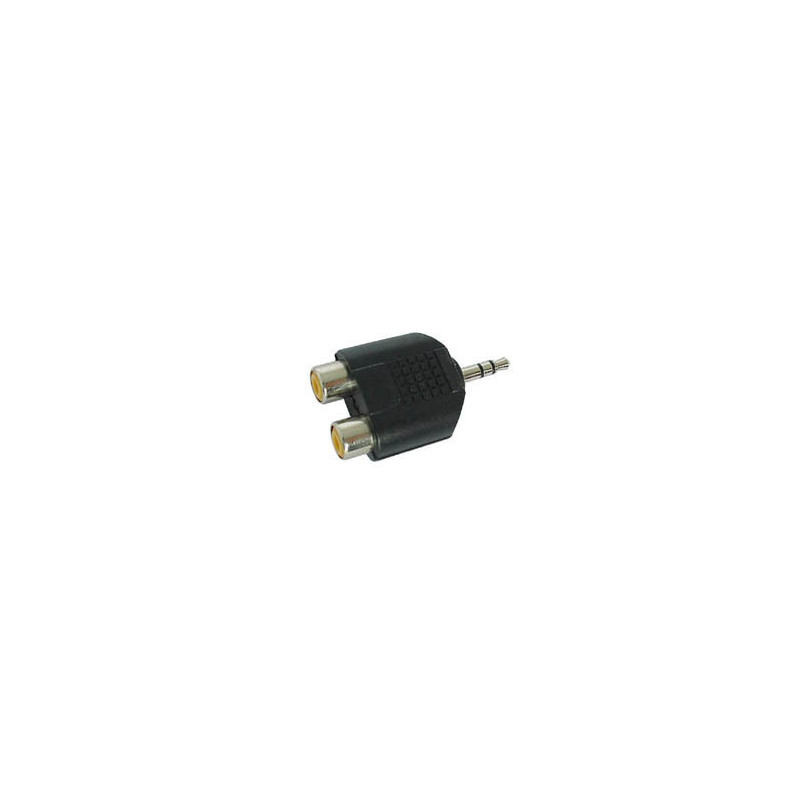 DUAL FEMALE RCA TO MALE 3.5mm STEREO JACK