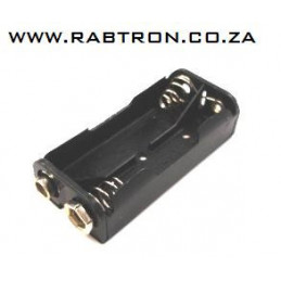 Battery Holder 2xAAA Flat Snap