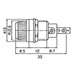 Fuse holder 5x20 panel mount