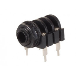 6.35mm female jack connector - closed circuit - mono