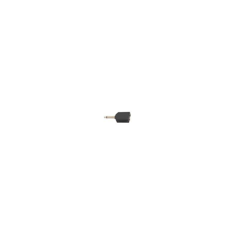 Dual 6.3mm mono socket to 6.3mm jack plug mono