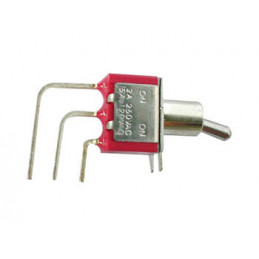 Vertical Toggle Switch SPDT ON-ON R/A