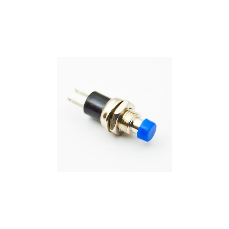 B163A Mini Push Button N/O Blue