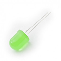 LED 10mm green Diffused