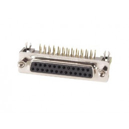 FEMALE 25-PIN SUB-D CONNECTOR - PCB MOUNTING