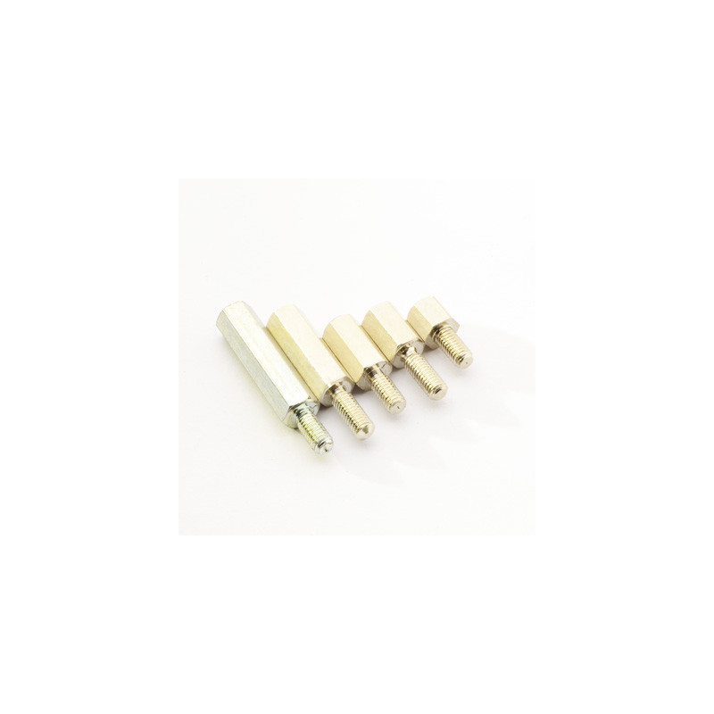 Hex Thread M3 Spacer Male to Female 5mm Metal
