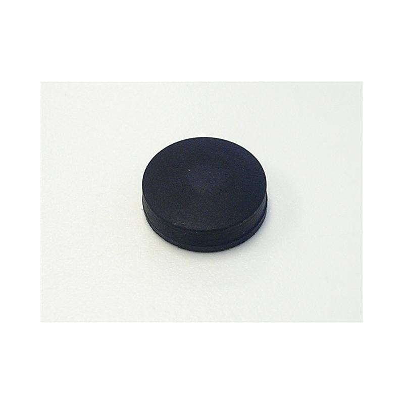 Round Rubber Foot Stick On 10mm Black