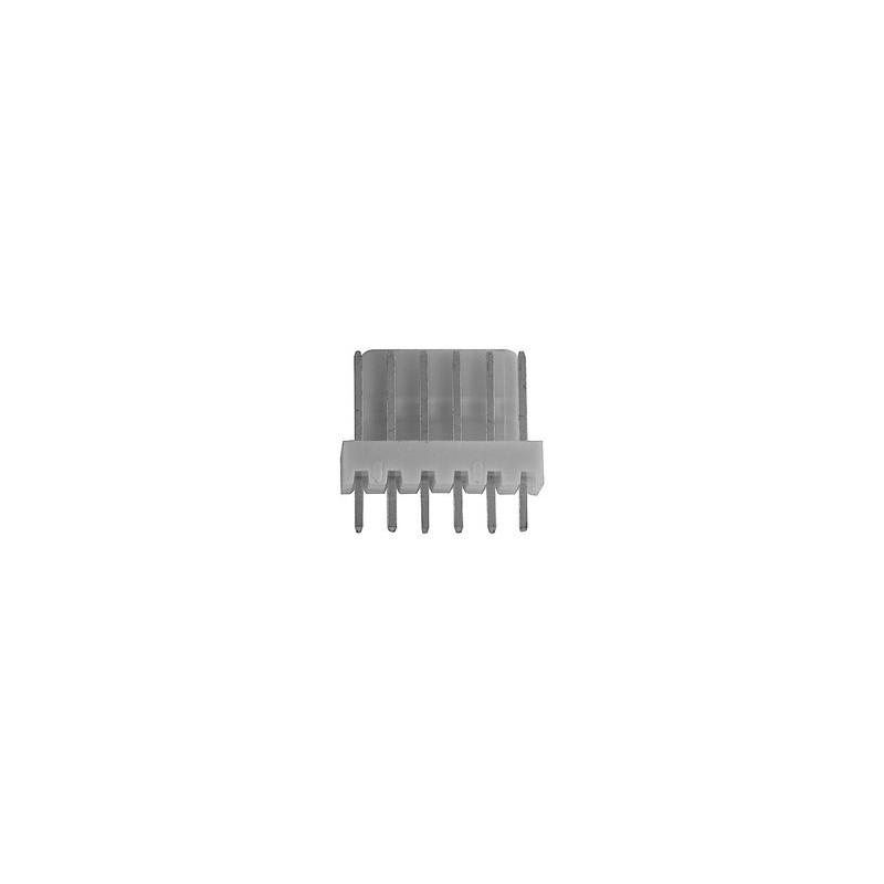 6410 6 Pin Friction Lock PCB Header Plug