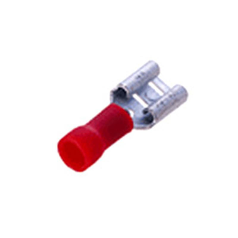 Insulated Disconnect Lug Female 6.4mm Red