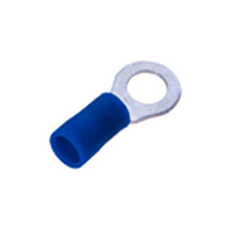 Insulated Ring Terminal Lug 5mm Blue