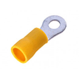 Insulated Ring Terminal Lug 5mm Stud Yellow