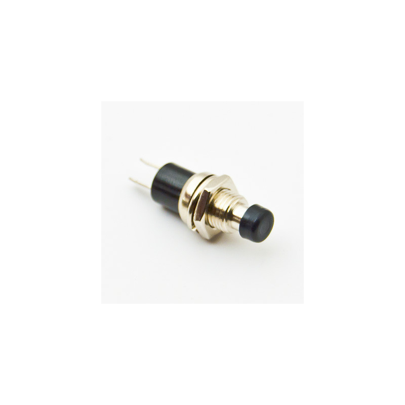 B163B Mini Push Button N/C Black
