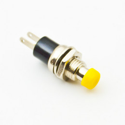 B163A Mini Push Button N/O Yellow