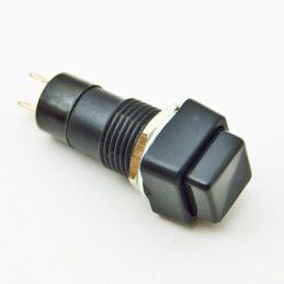 B160A Push Button Square Blk ON/OFF Latching