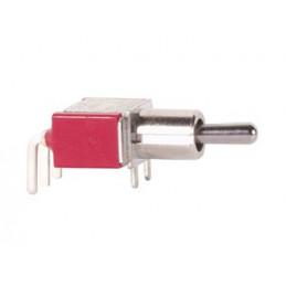 Mini Toggle Switch 90deg Horizontal SPDT ON-(ON)
