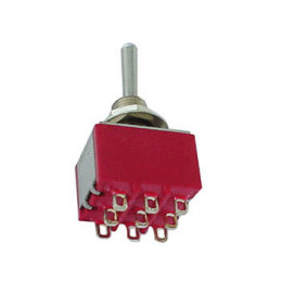 Mini Toggle Switch 3PDT ON-ON