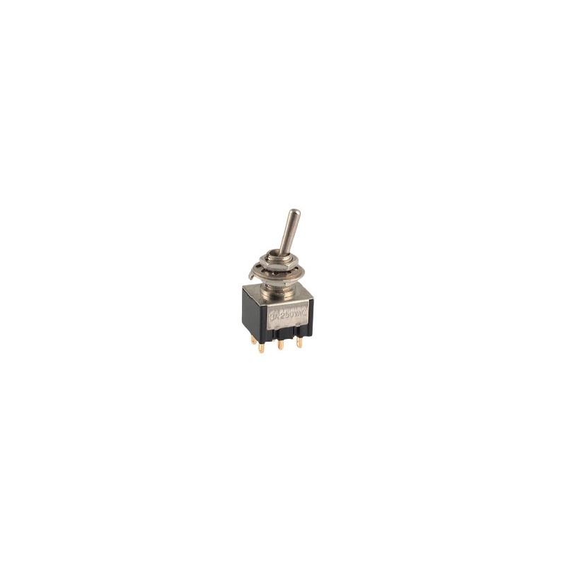 Mini Toggle Switch DPDT ON-(ON)