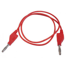 Test Lead Moulded Banana Plug 4mm - RED 1m