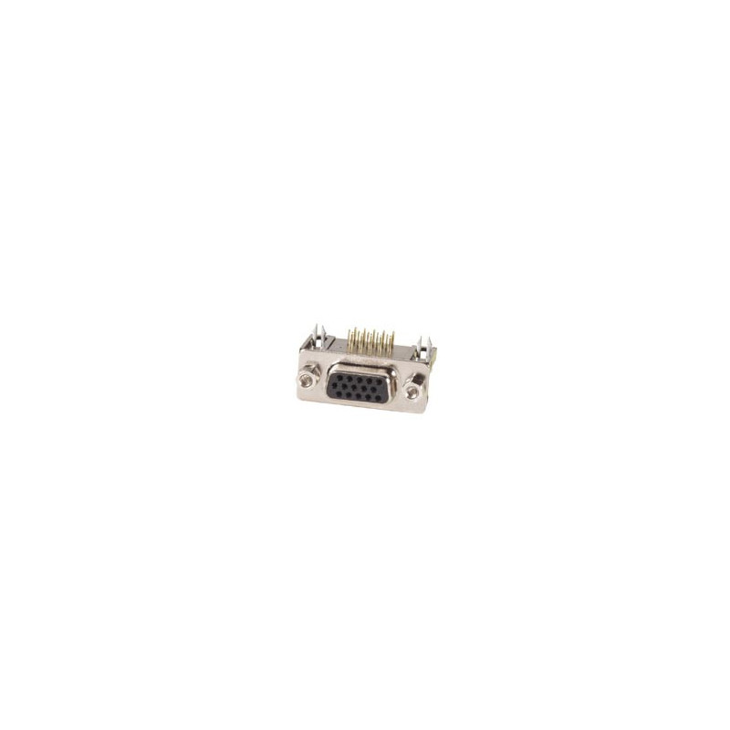 Female 15-Pin Sub-D Connector - High Density - PCB Mounting