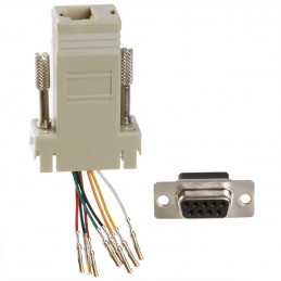 Adaptor Dsub 9pin Female to RJ45 Socket