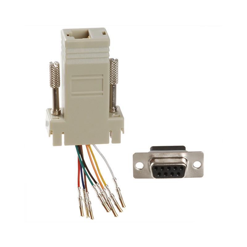 Adaptor Dsub 9pin Female to RJ45 Socket
