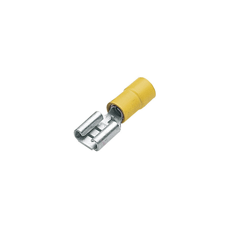 Insulated Disconnect Lug Female 6.4mm Yellow