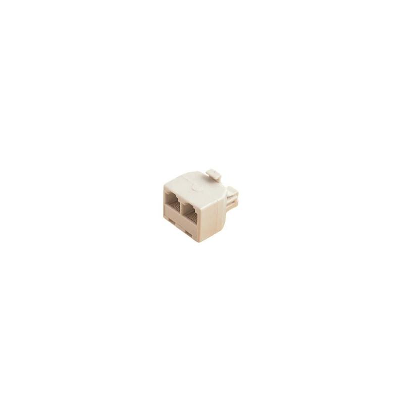 Adaptor RJ12 Plug to 2X RJ12 Socket