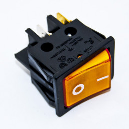 Rocker Switch 4P DPST Orange illuminated