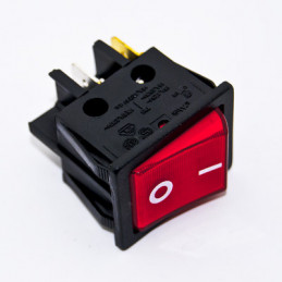 Rocker Switch 4P DPST Red illuminated