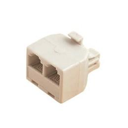 RJ45 Network Cable 1 male-to-2 Female Spliter Coupler