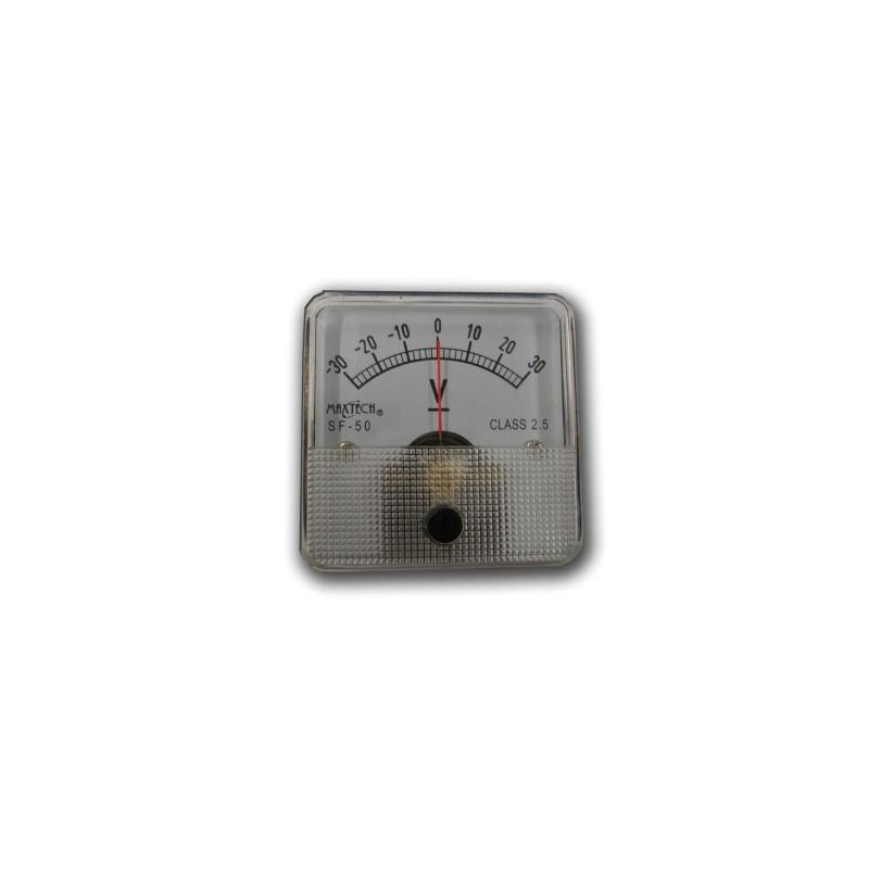 Panel Meter - Voltmeter 30V - 0 Center
