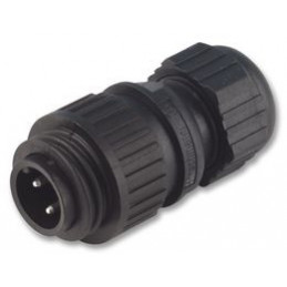 Connector Hirschmann CA 3 LS Cable Plug Straight