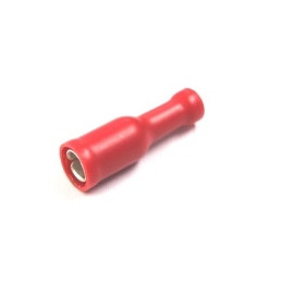 Insulated Bullet Terminal Female Red