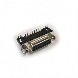Female 15 Pin Sub D Connector - PCB Mounting Right Angle