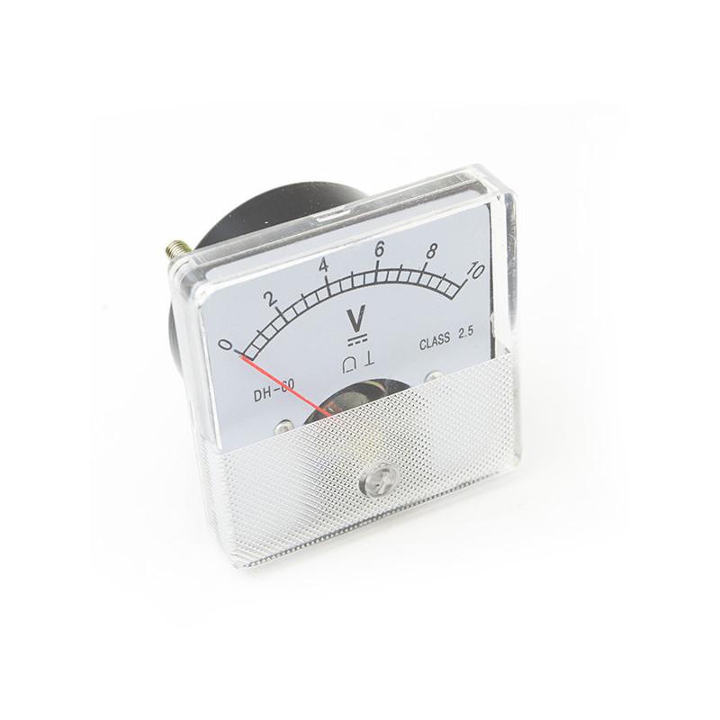 Panel Meter 60X60 - Voltmeter 10V DC