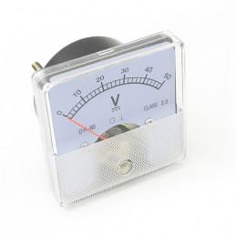 Panel Meter 60X60 - Voltmeter 50V DC